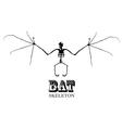 Bat skeleton vector