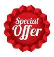 Special offer price tag red round star sticker vector