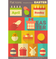 Easter retro labels vector