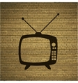 Retro tv flat modern web button and space for your vector