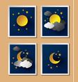 Weather night vector