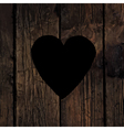 Heart sign on wooden board vector