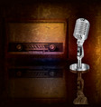 Abstract background with retro microphone and vector