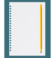 Notepad and pen vector