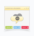 Cloud file uploader vector