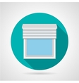 Flat icon for window with blinds vector