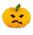 Halloween pumpkin angry jack-o-lantern on a white vector