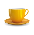 Yellow cup vector