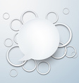 Speech bubble with paper white circles vector