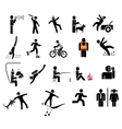 People in action icons vector