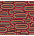 Seamless big oval pattern in a retro style vector