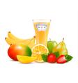 Group of healthy fruit diet concept vector