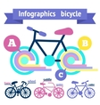 Bicycle infographic elements vector