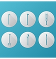 Flat icons for orthopedic equipment vector