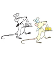 Rat cook with cheese vector