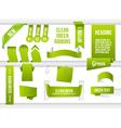 Bundle of green web elements vector