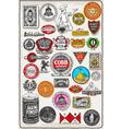 Vintage california label plaque black and gold vector