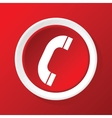 Call icon on red vector
