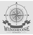 Corporate logo with windrose vector