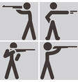 Shooting icons vector