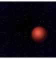Cartoon mars in open space vector