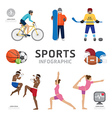 Infographic health sport and wellness flat icons vector