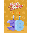 Happy birthday age 38 announcement and celebration vector