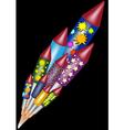 Happy new year - bottle rockets vector