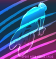 Sport neon series cycling vector