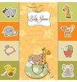 Childish cartoon greeting card vector