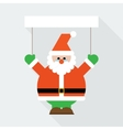 Santa claus greeting vector