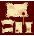 Ancient parchment banners vector