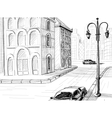 City sketch background vector