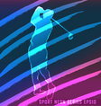 Sport neon series golf vector