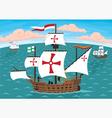 Columbus ships vector