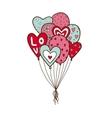 Heart air balloons batch vector