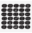 Set of hand-drawn start-up icons in black circles vector