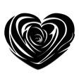 Flower love heart valentine day tattoo vector