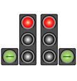 City traffic light vector