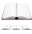 Open book white pages vector