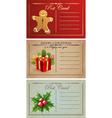 Vintage christmas postcards vector