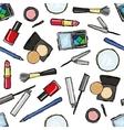Seamless cosmetics pattern vector