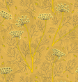 Fennel plants and seeds seamless pattern vector