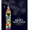 New year 2015 england poster design vector