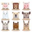 Domestic animals icon set vector