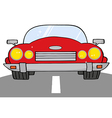 Red convertible car on a road vector