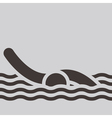 Swimming icon vector