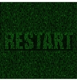 Restart code background vector