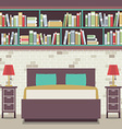 Modern flat design twin bedroom vector