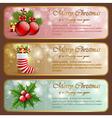 Christmas vintage horizontal banners vector